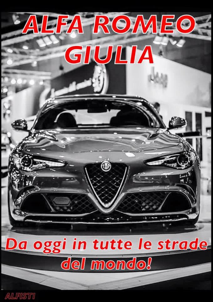 giulia Alfa Romeo Giulia - Da oggi in tutte le strade del mondo !